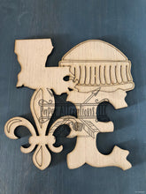 Load image into Gallery viewer, Painted - Louisiana Love with Fleur De Lis and Dome