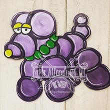 Load image into Gallery viewer, Painted - Mardi Gras Bead Dog