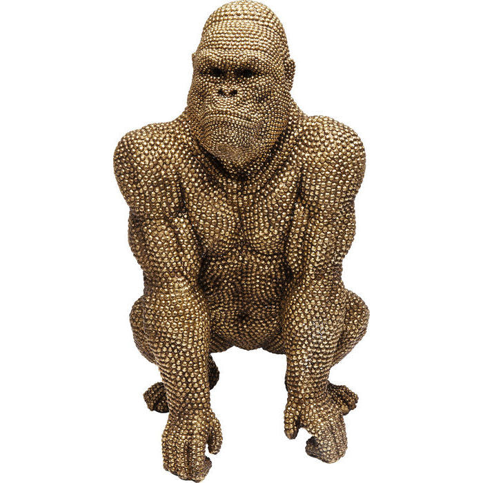 Deco Figurine Gorilla Gold: different sizes available