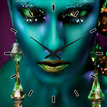 Load image into Gallery viewer, Galactic Woman Clock 60x60cm