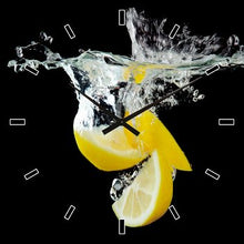 Load image into Gallery viewer, Wall Clock Citrus Falling in Water Clock 60x60cm