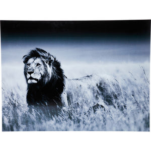 Picture Glass Lion King Standing 120x160cm
