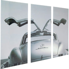 Load image into Gallery viewer, Picture Glass Triptychon Oldtimer Back 160x240cm (3/Set)