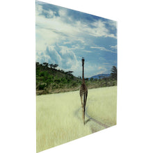Load image into Gallery viewer, Picture Glass Savanne Giraffe 100x120cm
