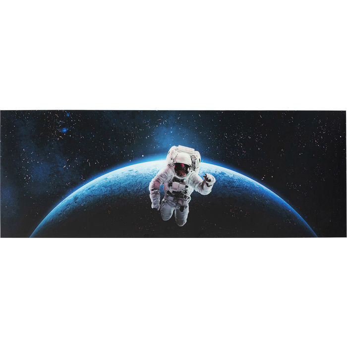 Picture Glass Man in Space 80x240cm