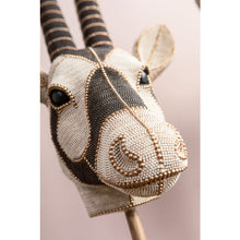Load image into Gallery viewer, Deco Object Antelope Head Pearls 124cm