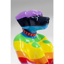 Load image into Gallery viewer, Deco Figure Sitting Dog Rainbow 80cm