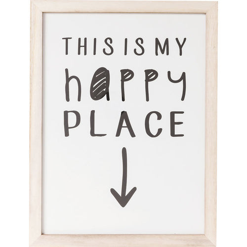Picture Frame My Happy Place 50x38cm