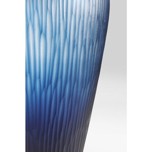 Vase Cutting Blue Taille