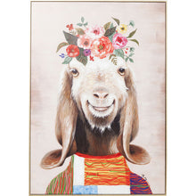 Load image into Gallery viewer, Picture Touched Flowers Goat 102x72cm