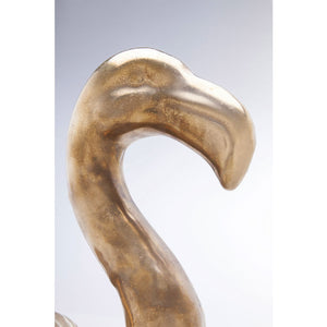 Deco Figurine Flamingo Side Gold