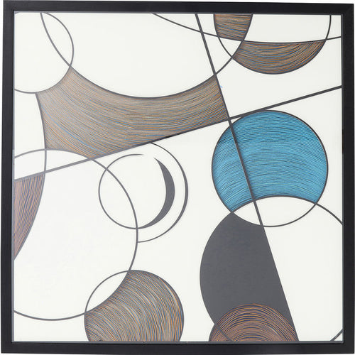 Deco Frame Wall Art Circles 90x90cm