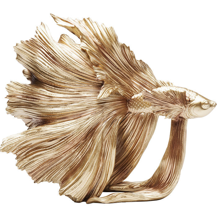 Deco Figurine Betta Fish Gold: different sizes available
