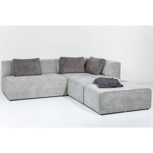 Sofa Infinity Ottomane Grey: different sides available