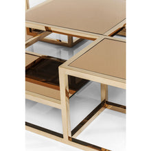 Load image into Gallery viewer, Coffee Table Steps Gold 120x120cm