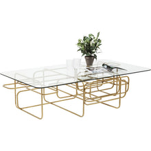 Load image into Gallery viewer, Coffee Table Meander Gold 140x80cm