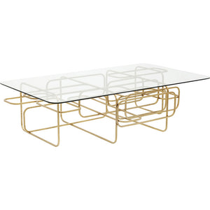 Coffee Table Meander Gold 140x80cm