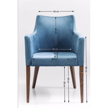 Load image into Gallery viewer, Chair with Armrest Mode Velvet: different colors available