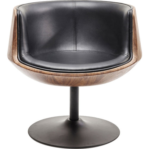 Swivel Armchair Club Walnut