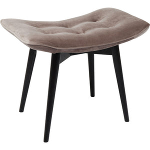 Stool Black Vicky Velvet: different colors available