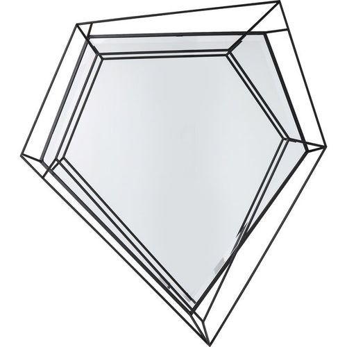 Mirror Wire diamant Schwarz 104x92cm