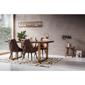 Set of 2 Chairs Urban Desire Brown