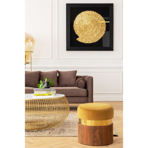 Coffee Table Cesta Marble Gold Ø100cm