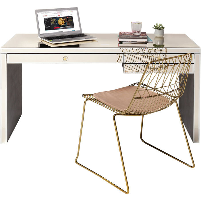 Desk Luxury 140x60 Champagne