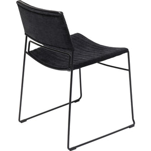 Set of 2 Chairs Hugo Black: different frame colors