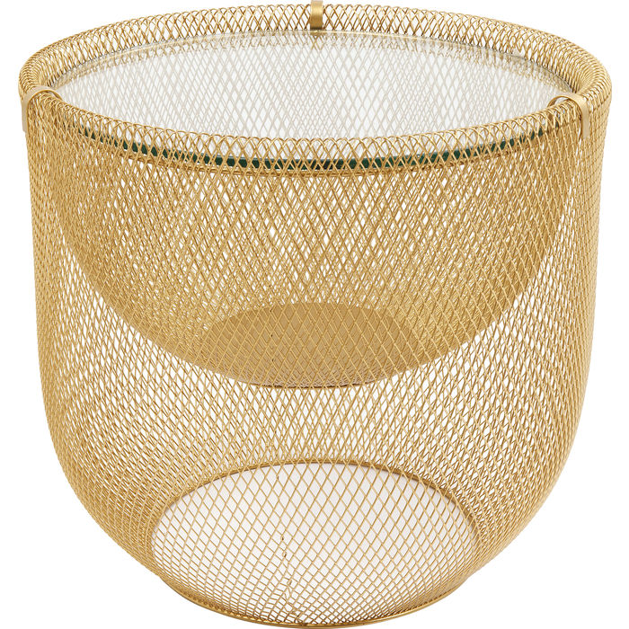 Coffee Table Grid Gold Ø50cm