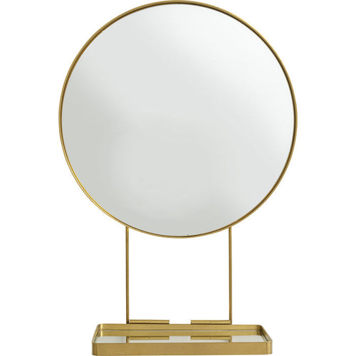 Mirror With Shelf Art Ø60cm