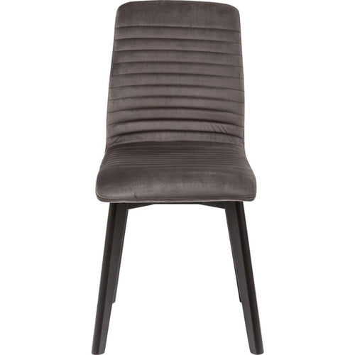 Set of 2 Chairs Lara Velvet Silver
