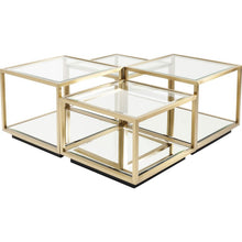 Load image into Gallery viewer, Coffee Table Luigi Gold (4/Set)