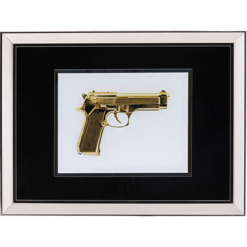 Picture Frame Mirror Gun Gold 80x60cm
