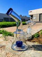 "6"" Water Pipe Glass Bong Shower Bend Assorted Colors"