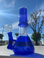 Cornflower Blue 8 Inch Blue Side Joint Bong w/ Ice Catcher and Percolator StonedGenie.com Bong