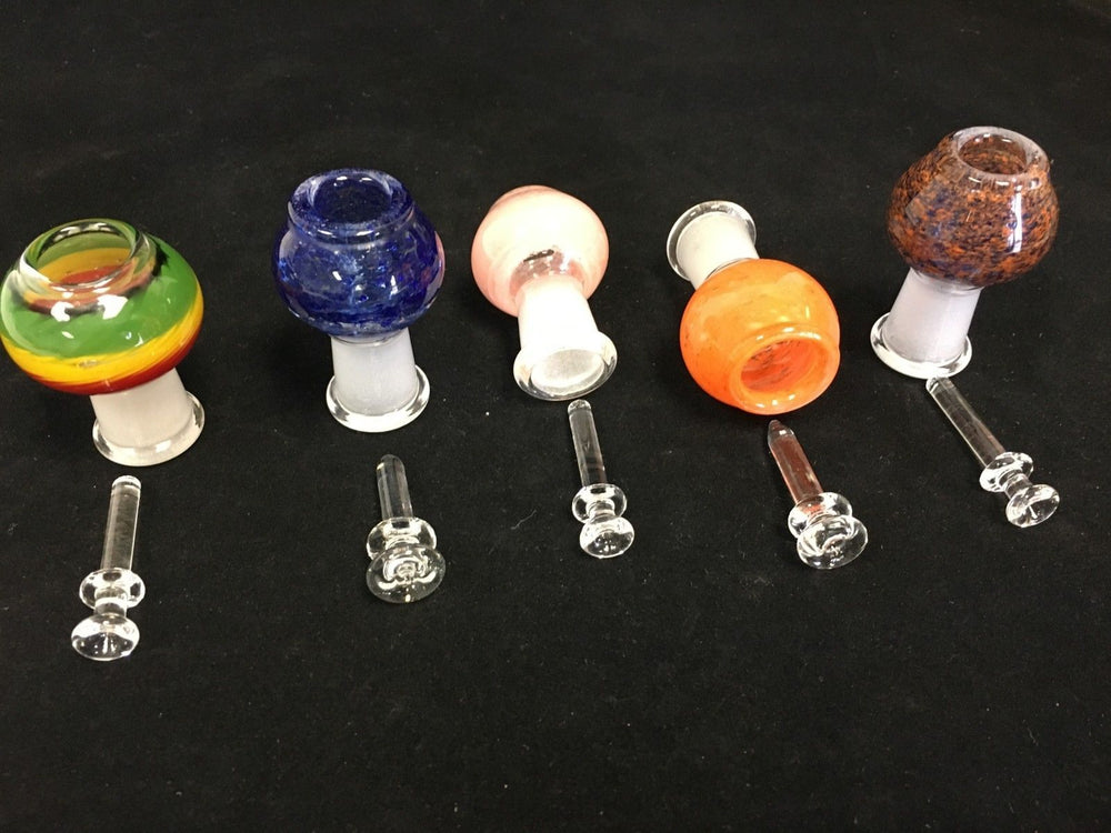 18mm Bowl Male Bowl Piece Assorted Colors -- Fast Shipping