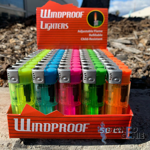 50 Full Size Wind Proof Cigarette Lighter Wholesale Lot Assorted Colors