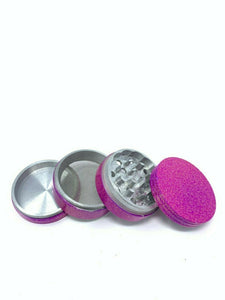 4 Piece Magnetic 2 Inch Pink Tobacco Spice Metal Grinder w/ Sharp Teeth