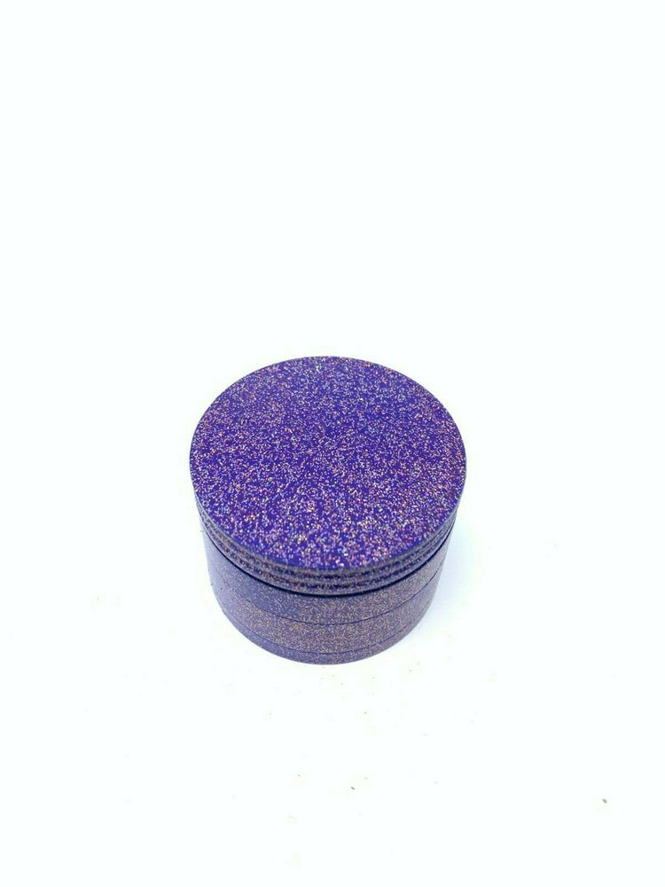 4 Piece Magnetic 2 Inch Sparkling Purple Metal Grinder