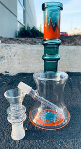 7.5 inch Sticker Base Water Pipe Glass Bong Smoking Pipe