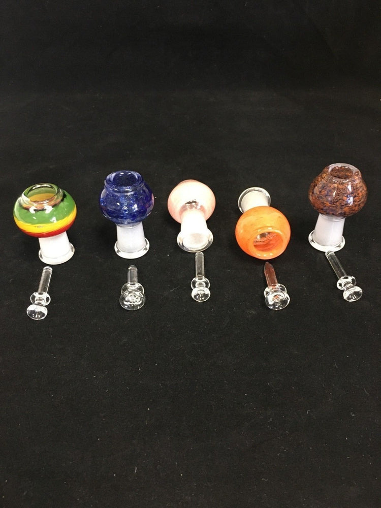 Dark Slate Gray 18mm Bowl Male Bowl Piece Assorted Colors -- Fast Shipping StonedGenie.com Bowl