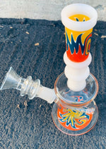 "7.5"" Sticker Base Water Pipe Glass Bong Smoking Pipe"