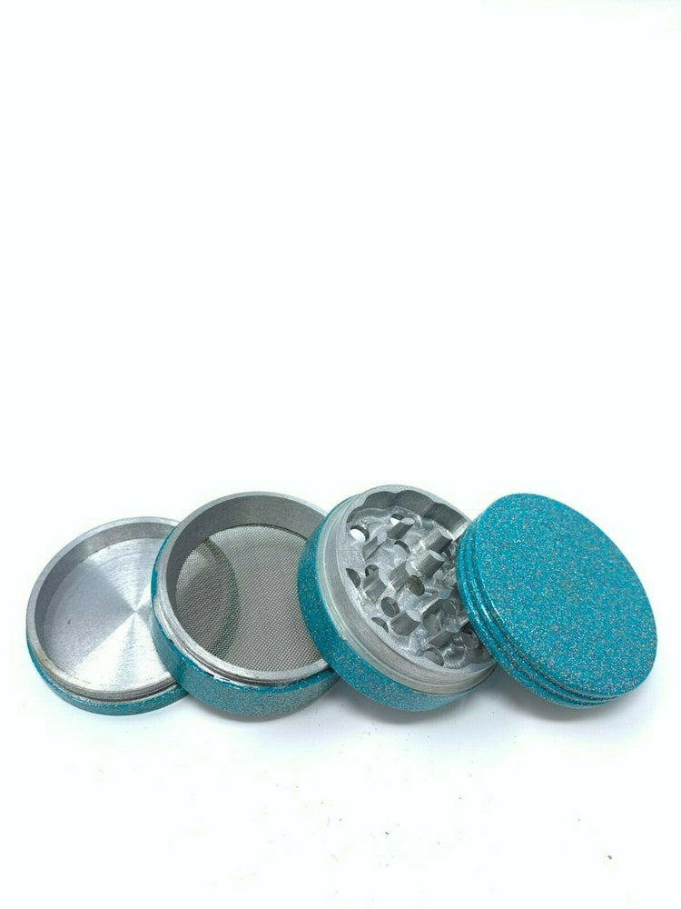 4 Piece Magnetic 2 Inch Green Tobacco Spice Metal Grinder w/ Sharp Teeth