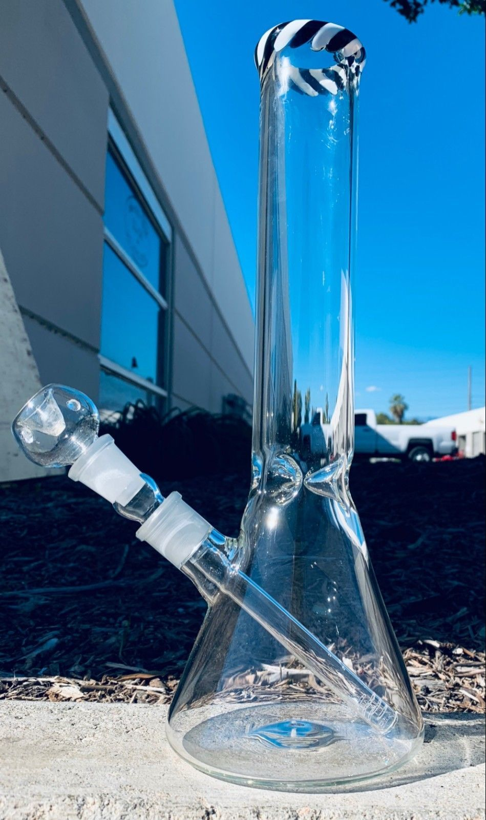 Heavy Thick  Glass Bong 12