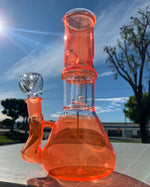 8 Inch Orange Side Joint Bong w/ Ice Catcher and Percolator