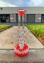 "12"" Glass Red Designer Zong"