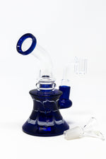 "Midnight Blue 6"" Shower Bend Designer Dab Rig StonedGenie.com Dab rig"