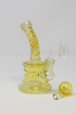 "Dark Khaki 6"" Fumed Twisted Neck Color Changing Dab Rig StonedGenie.com Dab rig"