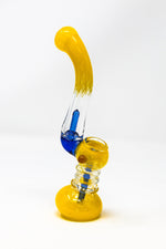 "7"" Premium Yellow Glass Bubbler w/ Percolator"